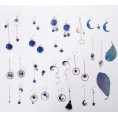 feclothing Background -  Blue Star Earrings