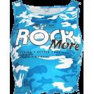 FECLOTHING Shirts -  Blue camouflage letter vest