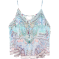 vespagirl Tanks -  CAMILLA Embellished silk tank top