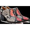 CHLOÉ Rylee snake-print leather ankle bo - Vespagirl