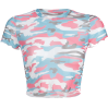 Camouflage T-shirt umbilical sexy top - TOP
