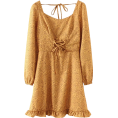 FECLOTHING Dresses -  Chest strap ruffle dress