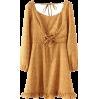 Chest strap ruffle dress - DRESS