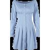 Court retro style high waist slim single - DRESS