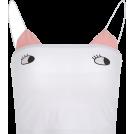 FECLOTHING Shirts -  Cute childlike print contrast sling
