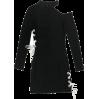 Cutout Strap Slim Thin Long Sleeve Dress - DRESS