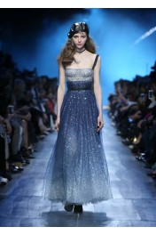 Dior glitter blue ombre dress - Catwalk
