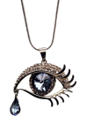 Eye shaped necklace - Black tie