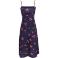 FECLOTHING Dresses -  Floral Strap Cherry Jumper Dress