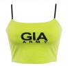 Fluorescent halter low-cut camisole top - TOP