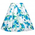 Grace Karin Skirts -  GRACE KARIN Girls Elastic Waist Pleated Floral Cotton A-Line Skirts Dresses