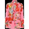 GUCCI Floral-printed silk crêpe blouse - Vespagirl