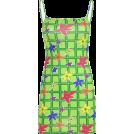 FECLOTHING Dresses -  Green plaid floral dress