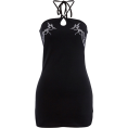 FECLOTHING Dresses -  Halter embroidered breathable dress