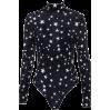 High collar five-pointed star pattern ju - BODYSUIT