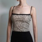 FECLOTHING My look -  Lace stitching leopard sling vest