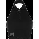 FECLOTHING Shirts -  Lapel zipper leaking navel casual temper