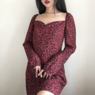 FECLOTHING My look -  Leopard print one shoulder sexy long sle