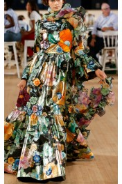 Marc Jacobs Metallic Floral-Embroidered - Catwalk