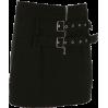 Metal Adjustable Buttoned Skirt Zip Slim - BOTTOM
