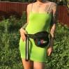 Metal chain fluorescent green versatile - DRESS