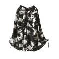 Minibee Pants -  Minibee Women's Cotton Linen Retro Printed Wide Leg Culotte Pants