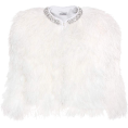 Mees Malanaphy Jacket - coats -  Miu Miu - Cropped crystal feather jacket