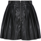 FECLOTHING Skirts -  Mix and match sexy high waist slim PU le
