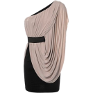 Sugerdiva Haljine -  One Shoulder Side Drape Dress