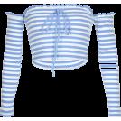 FECLOTHING Shirts -  One-shoulder slim short crop top