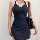 FECLOTHING My look -  Open backpack hip split tight skinny hal