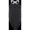 Open back thin chain cross straps one-pi - BODYSUIT