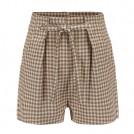 FECLOTHING Shorts -  Plaid high waist strap shorts casual pan
