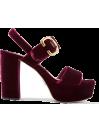 Prada Velvet platform sandal - Prada