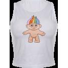FECLOTHING Shirts -  Printed Sling Round Neck Sleeveless Nave