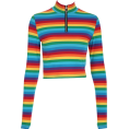 feclothing - Rainbow Zip Long Sleeve T-Shirt - Long sleeves shirts - $19.99