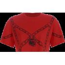 FECLOTHING Shirts -  Red Chain Super Devil Girl Short Sleeve