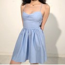 FECLOTHING My look -  Retro Back Strap High Waist A-Line Skirt