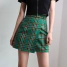 FECLOTHING My look -  Retro high waist irregular buckle school