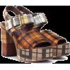 SEE BY CHLOÉ Plaid plateau sandals - Vespagirl