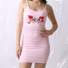 FECLOTHING My look -  Sexy Pink Striped Demon Embroidered Slin