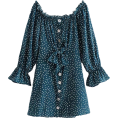 FECLOTHING Dresses -  Sexy Word Dress Shoulder Dress