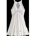 FECLOTHING Dresses -  Sexy lace stitching back dress