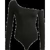 Sexy one-shoulder diagonal collar long-s - BODYSUIT