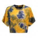 FECLOTHING Shirts -  Short cropped tie-dye T-shirt short casu