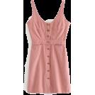 FECLOTHING Dresses -  Single-breasted denim harness dress