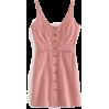 Single-breasted denim harness dress - DRESS