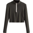 feclothing - Small high neck ring zipper thread high - Long sleeves shirts - $25.99