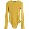 Small round neck long sleeve pitted body - BODYSUIT