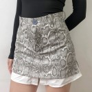 FECLOTHING My look -  Snake pattern fake two-piece skirt